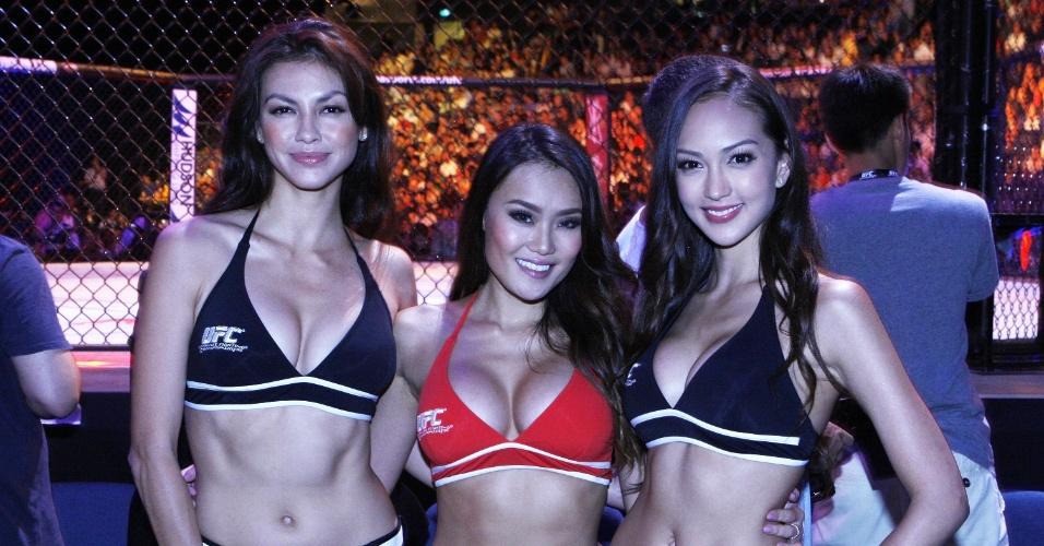 Ring girls com um toque oriental se destacam no UFC de Macau