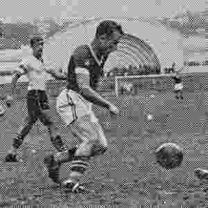 Palmeiras inaugura o Estádio do Pacaembu com uma vitória em cima do Coritiba, em 1940. - Reprodução