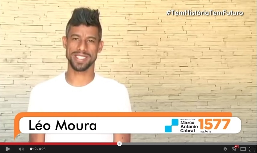 Léo Moura grava campanha em vídeo para candidatura de Marco Antônio Cabral