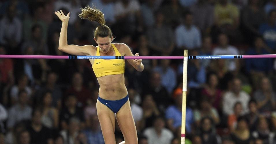 28. ago. 2014 - Brasileira Fabiana Murer compete pela etapa de Zurique da Liga de Diamante e é bicampeã