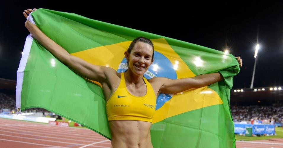 28. ago. 2014 - Fabiana Murer comemora título da Liga de Diamante