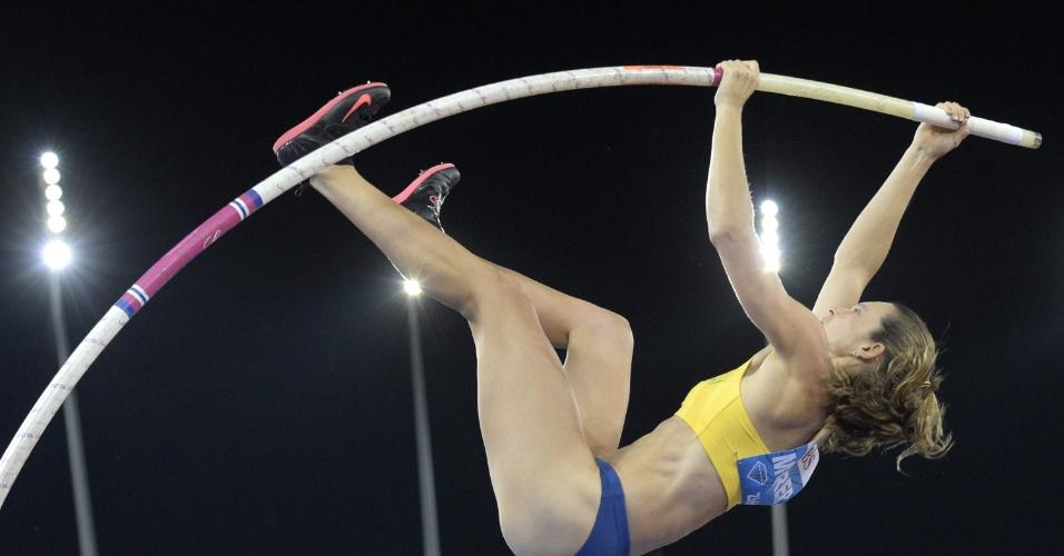 28. ago. 2014 - Fabiana Murer salta em Zurique e é bicampeã da Liga de Diamante