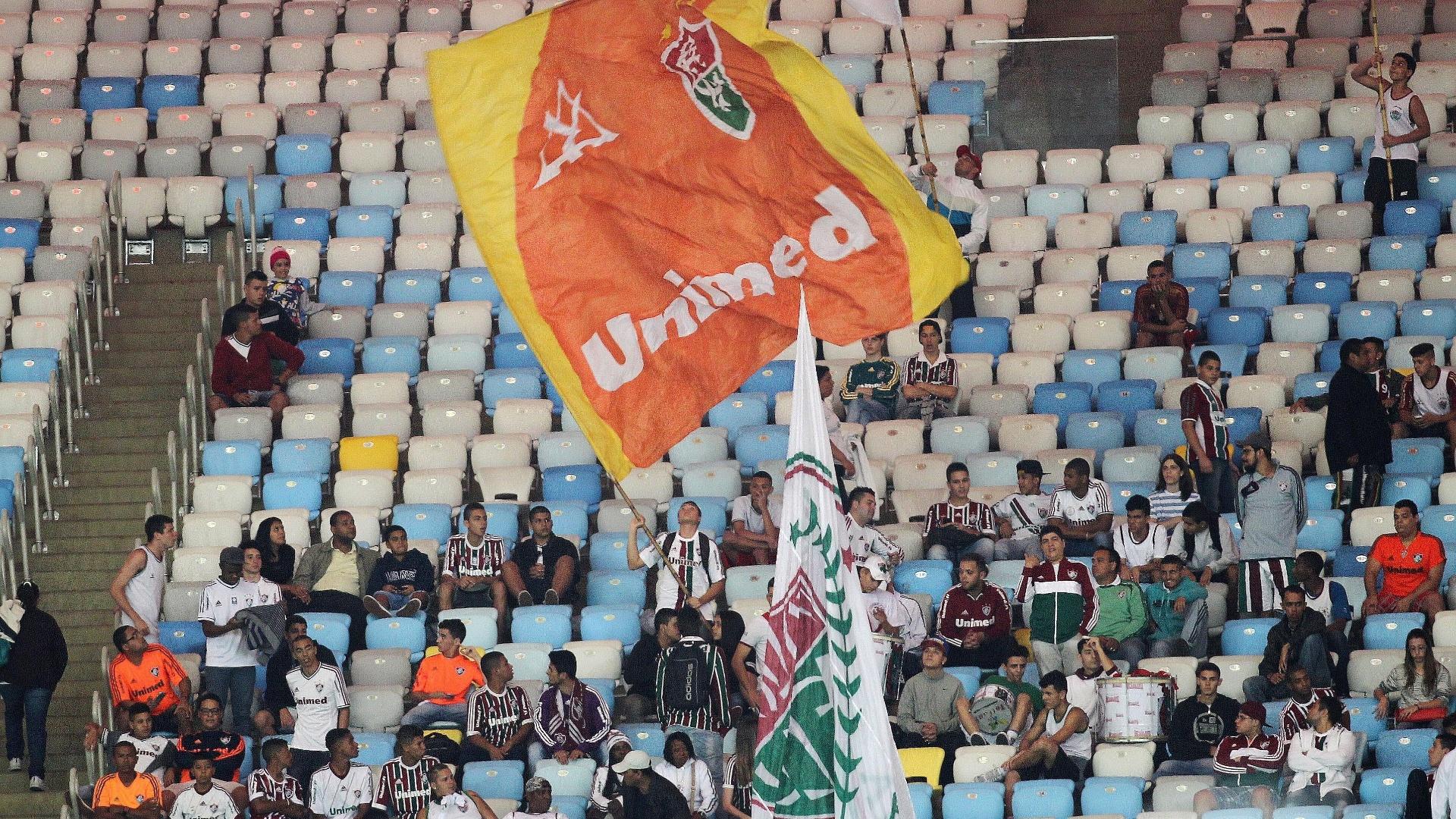 Torcida do Fluminense não comparece em peso para duelo contra o Goiás pela Copa Sul-Americana