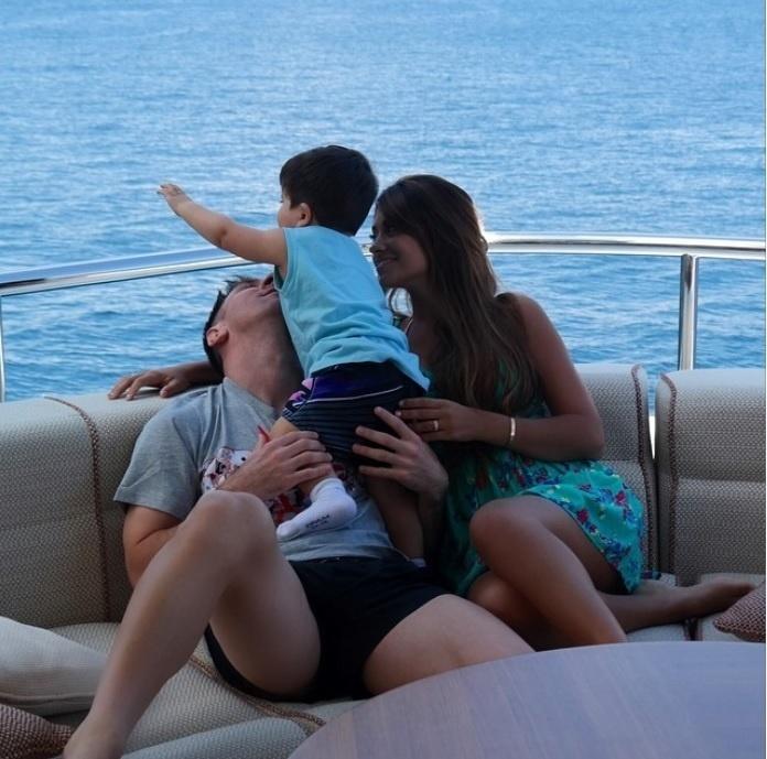 Messi em momento família