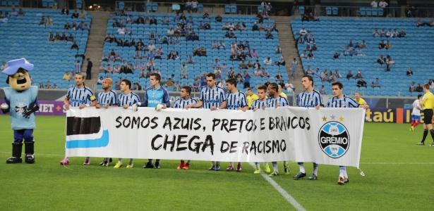 Grêmio já realizou campanha de combate ao racismo no Rio Grande do Sul