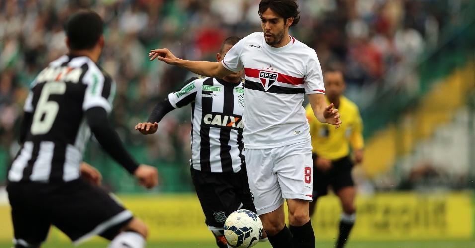 Kaká perdeu ótima chance de gol na etapa inicial