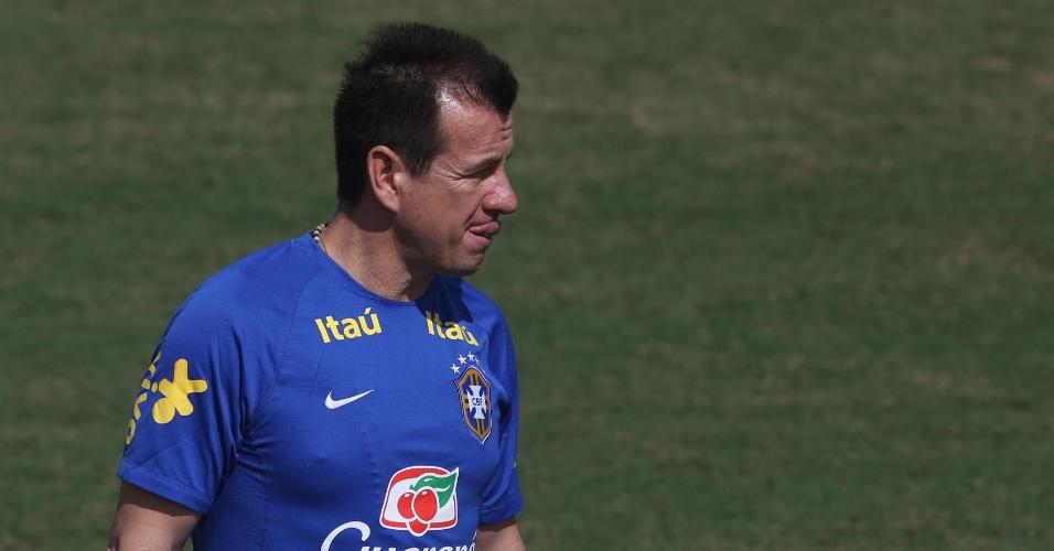 02. set. 2014 - Técnico Dunga comanda o primeiro treino da seleção brasileira, nos EUA, para amistoso contra a Colômbia, nesta sexta-feira (5)
