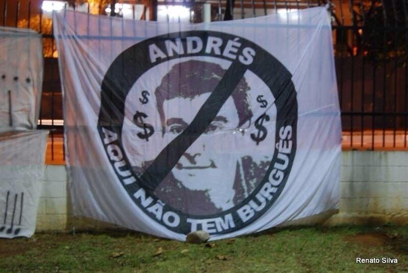 Corintianos avisam Andrés: aqui não tem burguês