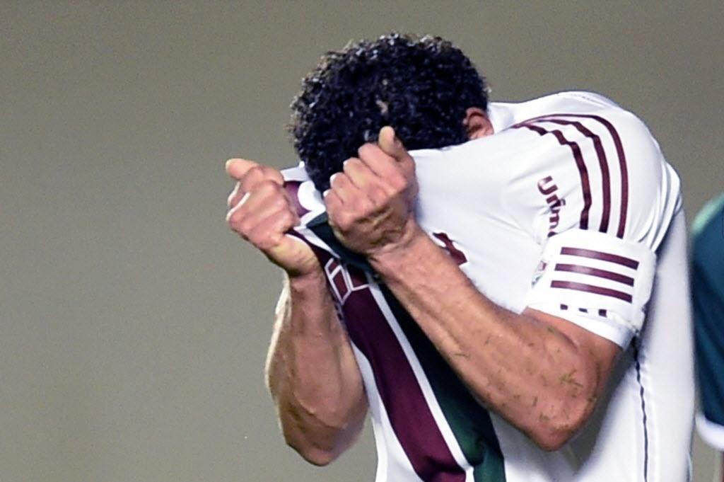 Fred lamenta chance desperdiçada na partida entre Fluminense e Goias pela Sul-Americana