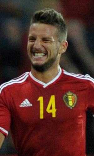 Mertens comemora primeiro gol da Bélgica em partida amistosa