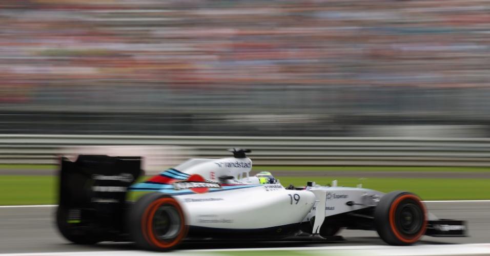 Felipe Massa atingiu 346,4 km/h na reta nesta sexta, maior velocidade atingida por um piloto no primeiro treino em Monza