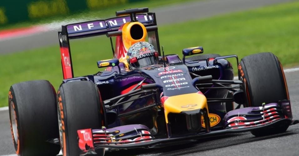 Vettel não faz uma boa temporada. Ele não venceu nenhuma vez, e seu companheiro de equipe, Daniel Ricciardo, já ganhou três provas
