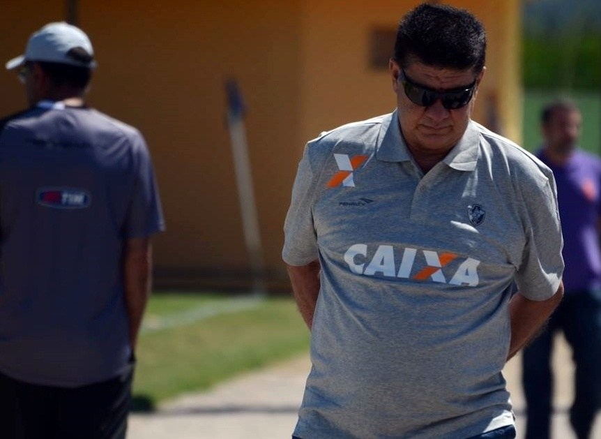 07.set.2014 - Joel Santana em seu primeiro treino na volta ao Vasco da Gama