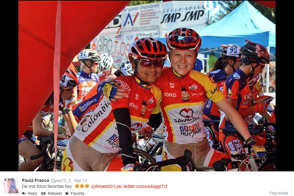 Ciclista da equipe IDRD exibe roupa que gerou polêmica na web, por insinuar o corpo das atletas