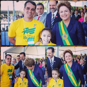 Flávia foi recebida pela presidente Dilma depois do ouro e as pratas que conquistou nos Jogos da Juventude, em agosto, na China - Reprodução/Instagram