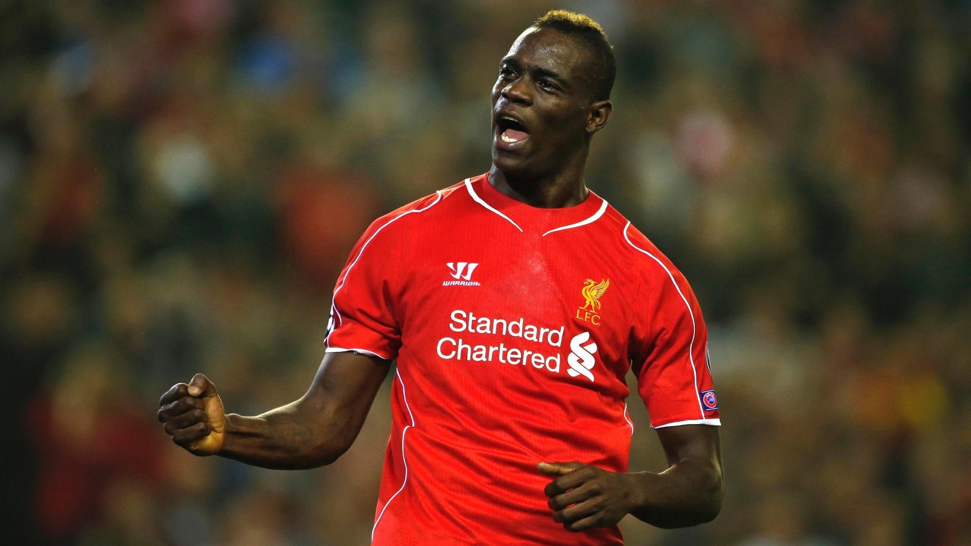 Balotelli estreou na Liga dos Campeões com gol para o Liverpool