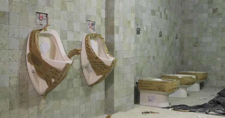 Banheiros e vestiários da Arena recebem acabamento