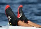Mundial de Vela vira mico: com ou sem vento, atletas sofrem na água - Esteban Corbo/EFE