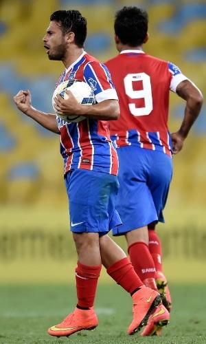 Maxi Biancucchi comemora gol do Bahia pelo Campeonato Brasileiro