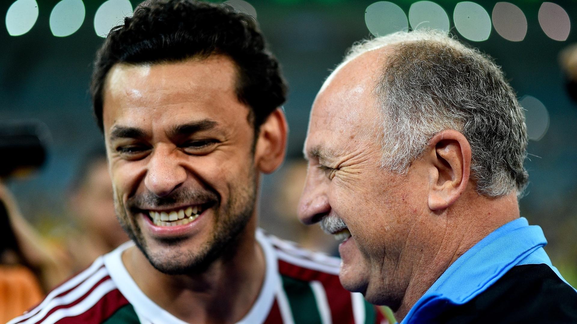Fred e Felipão se reencontram após a Copa do Mundo de 2014