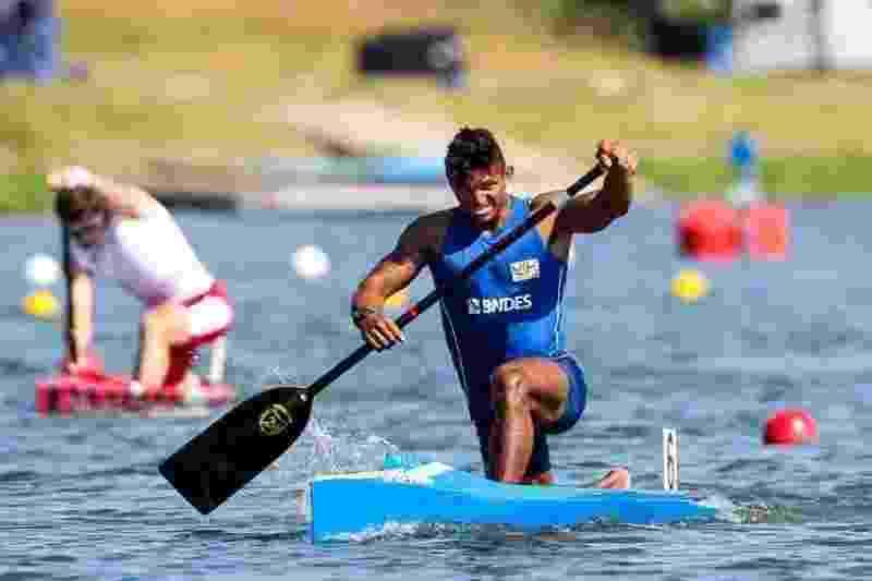Isaquias Queiroz no Pan-Americano de Canoagem, em setembro - Federação Internacional de Canoagem