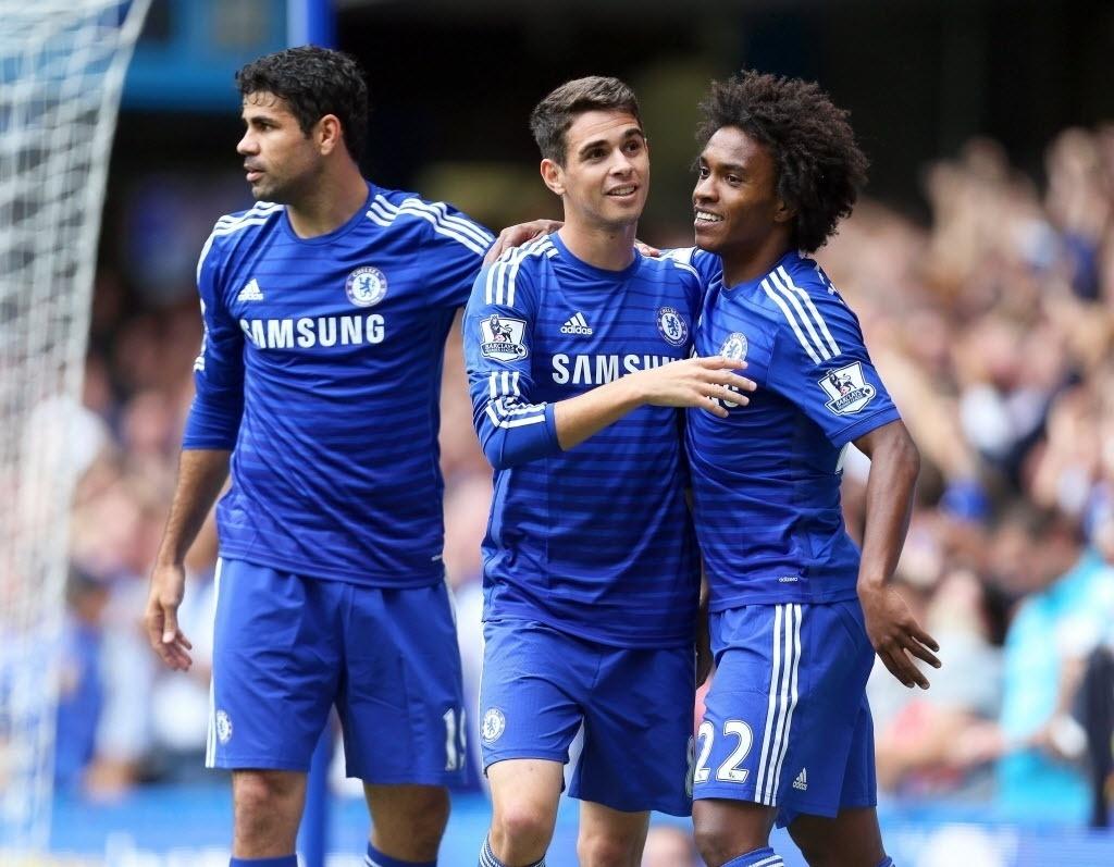 Brasileiros do Chelsea marcam e dão show em vitória no Inglês - 27 09 2014  - UOL Esporte 9ee41d414e672