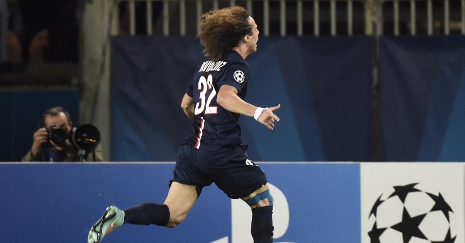 David Luiz faz festa para o PSG no confronto com o Barcelona