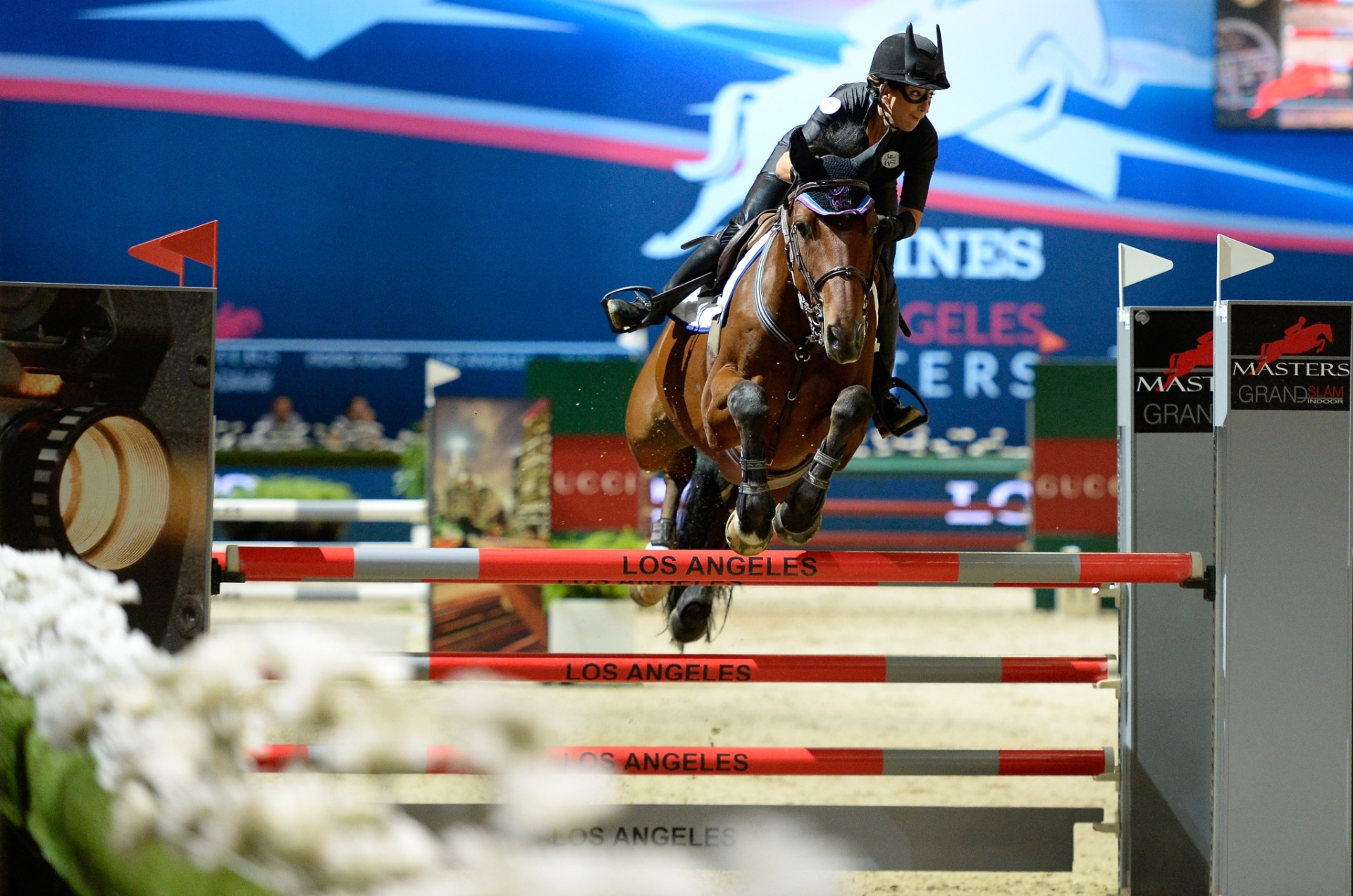 Laura Kraut no evento de caridade do Longines Los Angeles Masters
