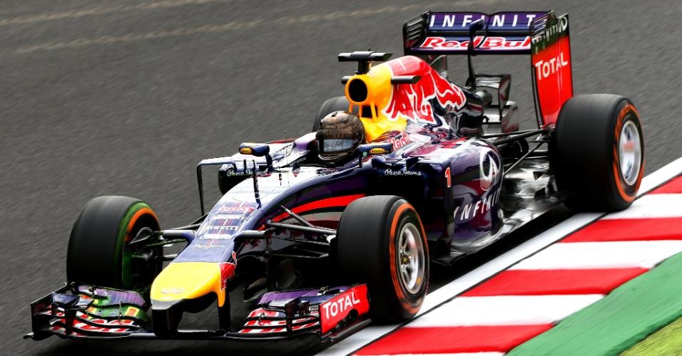 Sebastian Vettel dá primeiras voltas no treino livre para o GP do Japão