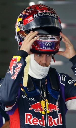Vettel se prepara para o terceiro treino livre no Japão