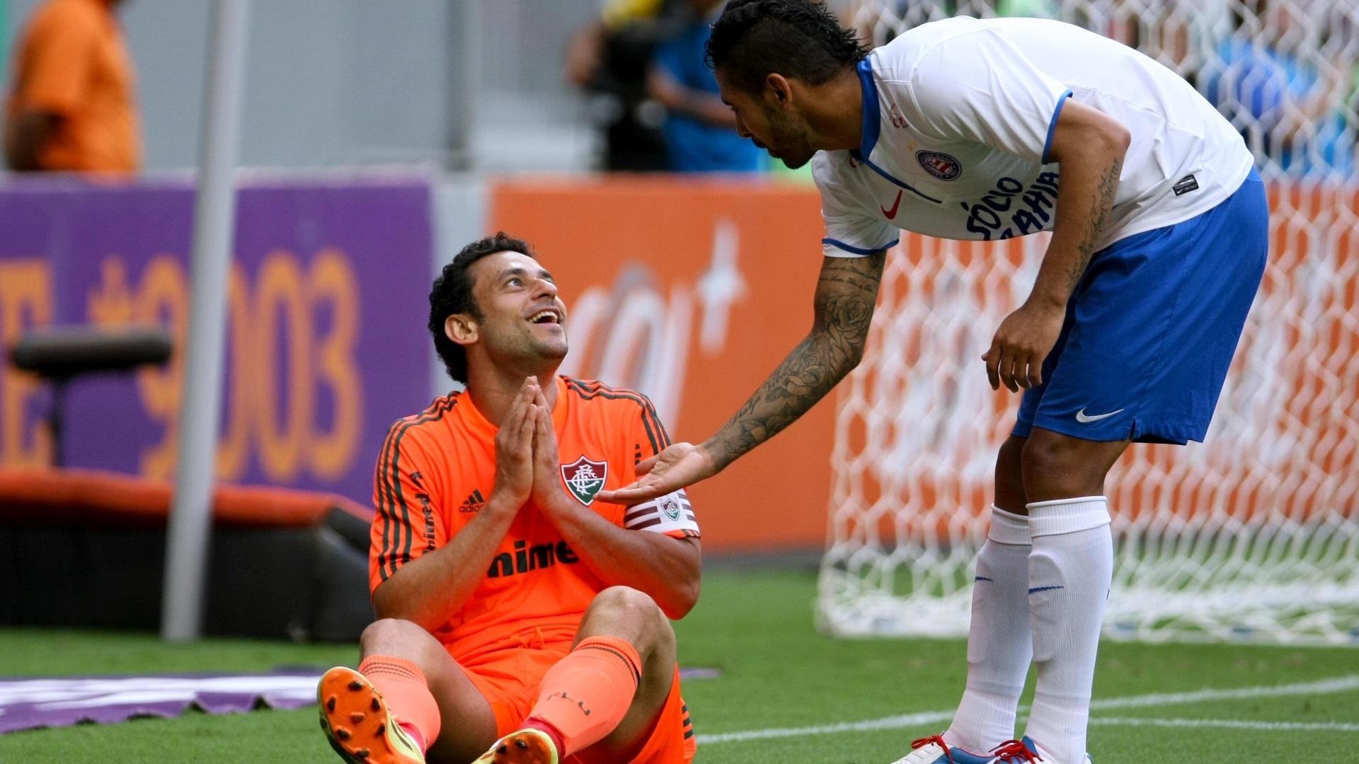 04.out.2014 - No fim, Fluminense e Bahia ficaram no empate por 1 a 1