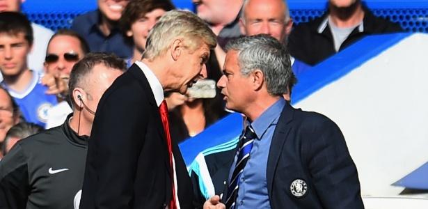 Treinadores se desentenderam durante jogo entre Arsenal e Chelsea em 2014