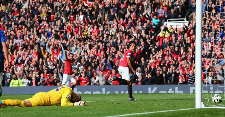Falcao Garcia marcou seu primeiro gol com a camisa do Manchester United