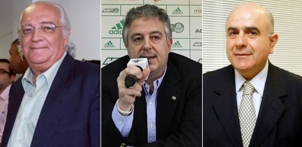 Wlademir Pescarmona, Paulo Nobre e Luiz Granieri, candidatos à presidência do Palmeiras - UOL