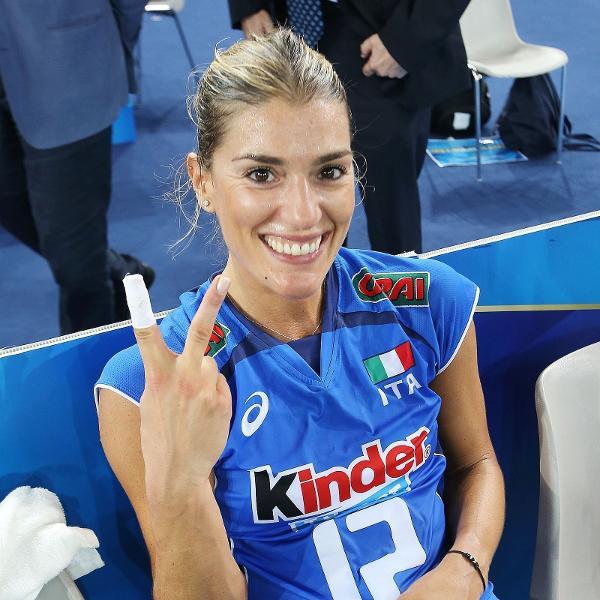 Piccinini foi campeã do mundo pela Itália