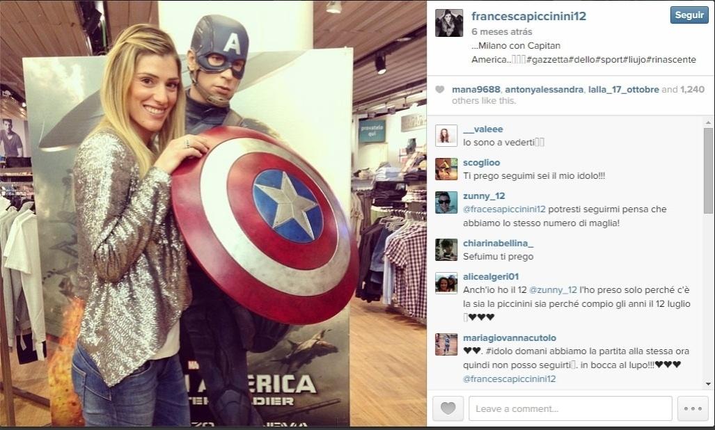 Piccinini exibe dia-a-dia em seu perfil no Instagram
