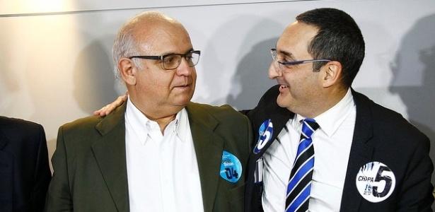 Romildo (esq) venceu Homero Bellini Jr. em 2014 e já está confirmado em nova eleição