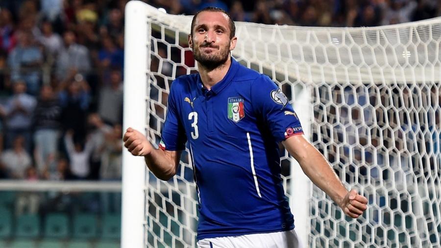 O zagueiro italiano Giorgio Chiellini - Claudio Villa/Getty Images