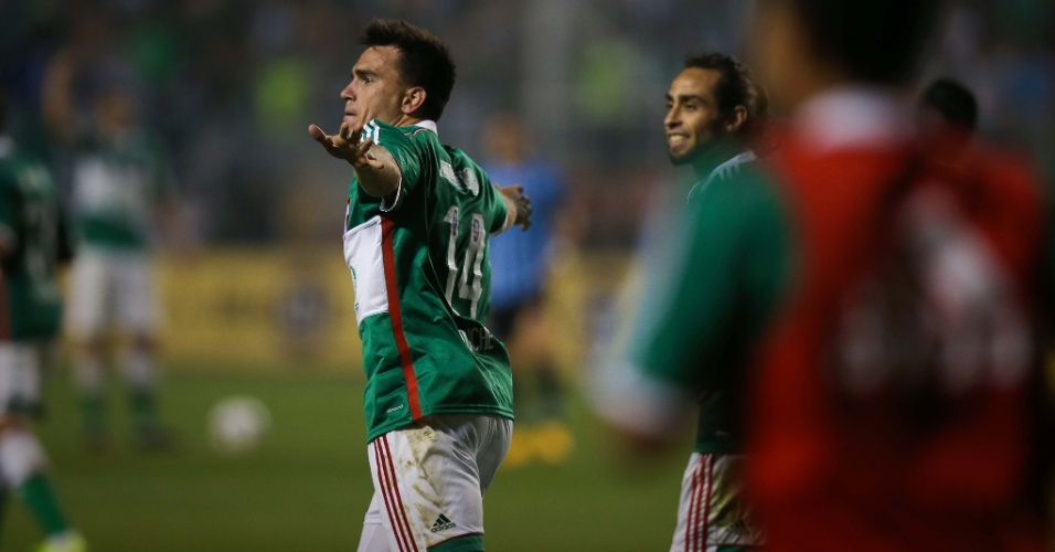 Mouche comemora gol de empate do Palmeiras contra o Grêmio