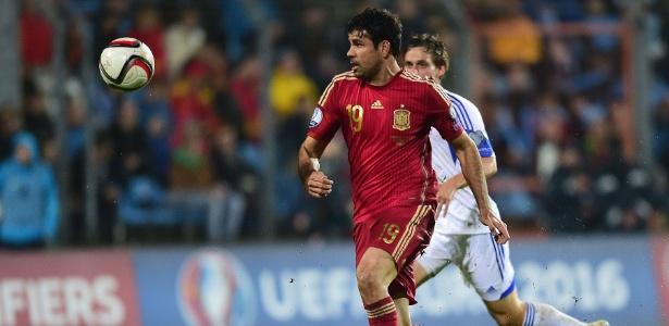 Diego Costa é um brasileiro naturalizado espanhol que atua pela seleção da Espanha - AFP PHOTO/EMMANUEL DUNAND
