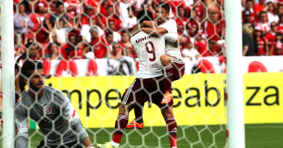 Fred empatou para o Fluminense contra o Inter