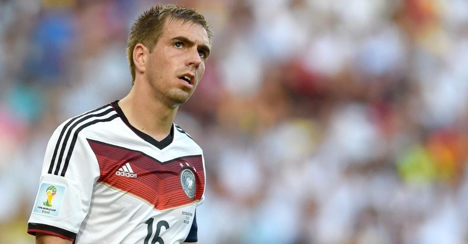 Phillip Lahm, capitão da Alemanha, durante da final da Copa do Mundo de 2014 contra a Argentina