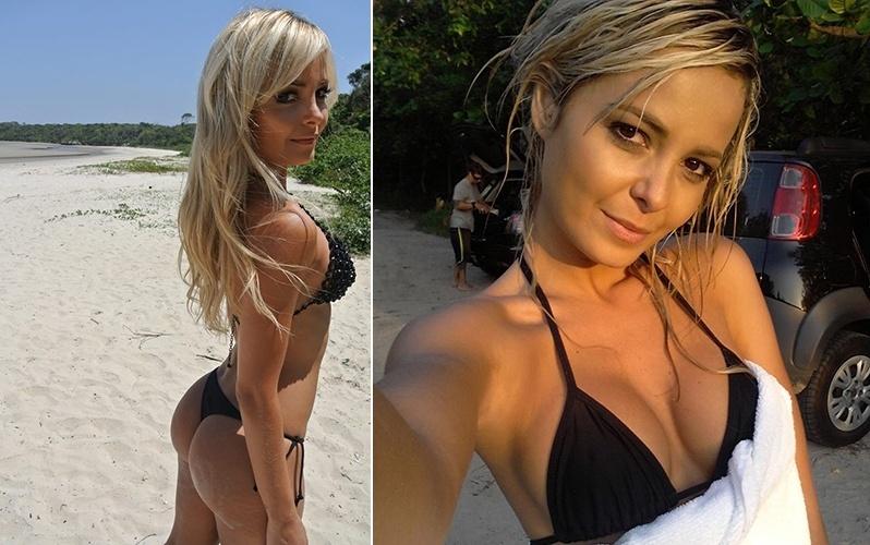 Jhenny Andrade, ring girl do UFC, posa de biquini para um ensaio sensual. Os cliques foram feitos na praia de Itaguaré, em SP, por Angelo Pastorelo, com produção de Juliana Hirschann e maquiagem Drika Lopes. Ela e a companheira Camila Oliveira também gravaram um vídeo para o UFC