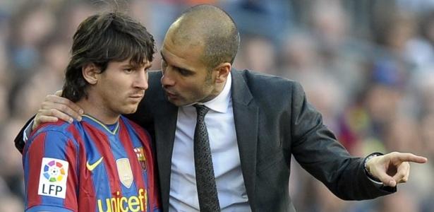 Messi e Pep Guardiola trabalharam juntos por muito tempo no Barcelona