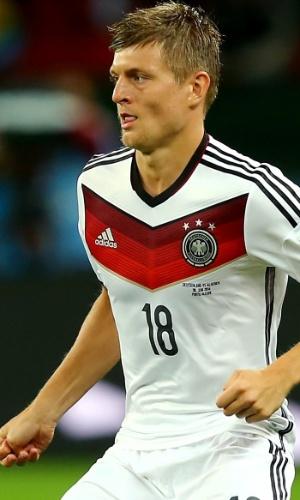 Toni Kroos, da Alemanha, em ação na Copa do Mundo de 2014