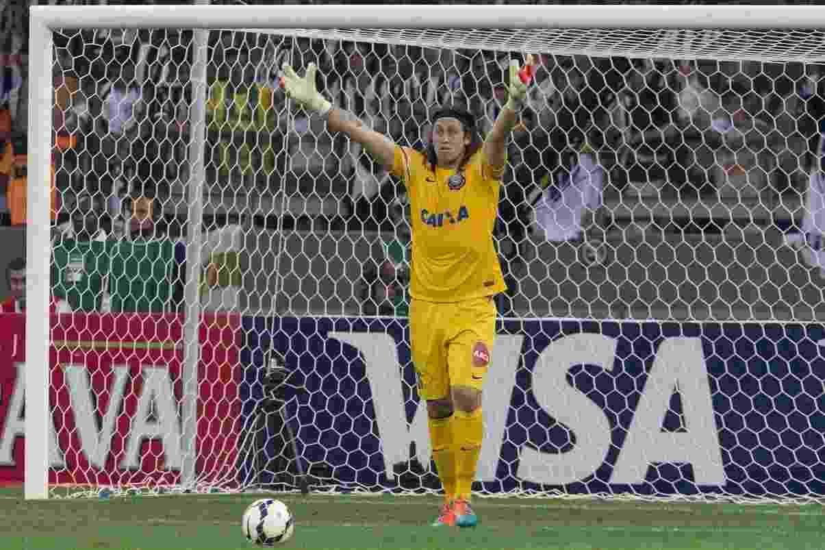 Cássio reclama com o time no vexame frente o Atlético-MG - Daniel Augusto Jr / Agência Corinthians