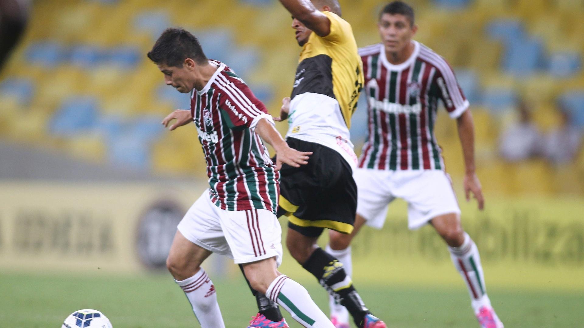 Conca marcou o terceiro gol do Fluminense, colocando o time carioca em boa vantagem