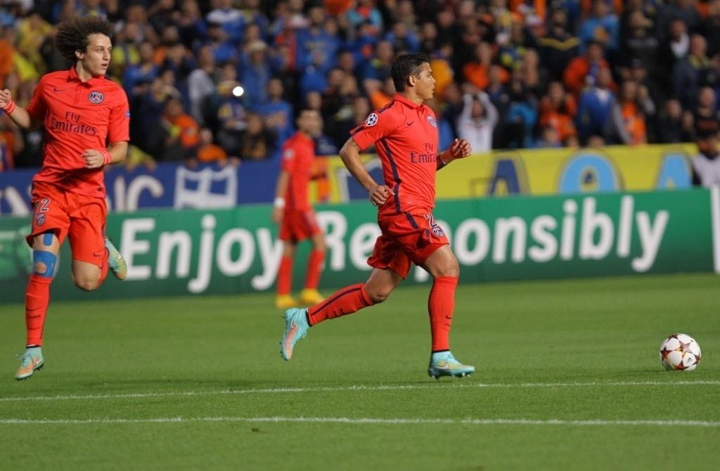 David Luiz e Thiago Silva em ação pela primeira vez pelo PSG em um jogo oficial