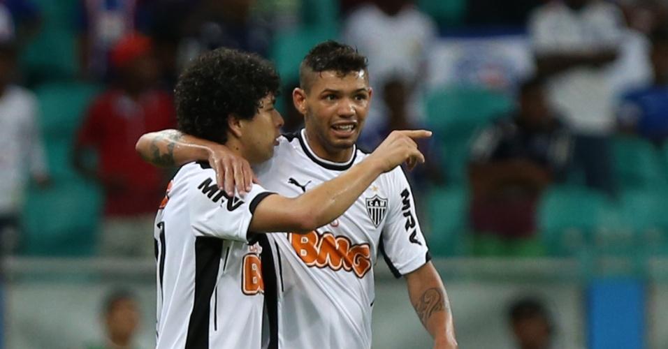 Luan comemora gol do Atlético-MG contra o Bahia pelo Brasileirão