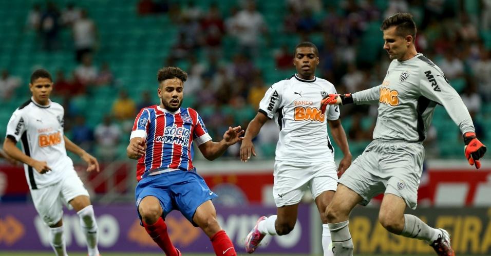 Victor afasta o perigo da defesa do Atlético-MG contra o Bahia pelo Brasileirão